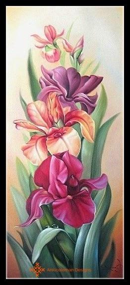 Embroidery Counted Cross Stitch Kits Needlework - Crafts 14 ct DMC DIY Arts Handmade Decor - Iris
