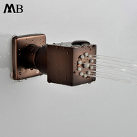 Oil Rubbed Bronze Shower Body Jets Rainfall ORB 35mm Massage Spray Jets Spa Bathroom Shower Accessories Brass Rain Showers