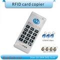 Inglés versión de Mano tarjeta de acceso RFID 125 Khz-13.56 MHZ más frecuencia Duplicadora/Copiadora + 10 unids 125 KHZ etiquetas + 10 unids 13.56 MHZ etiquetas