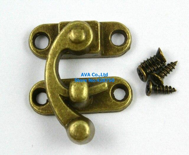 10 Antique Brass Decorative Hasp Jewelry Box Hasp Latch Lock 29x33mm