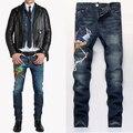 jean men High quality straight jeans  brand men pants male cotton fashion jean pantalones vaqueros hombr