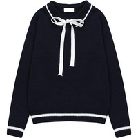 Women Sweater 2017 Autumn Cute Bowknot Knitted Pullover Woman Female Korean Style Winter Kawaii Bow Casual