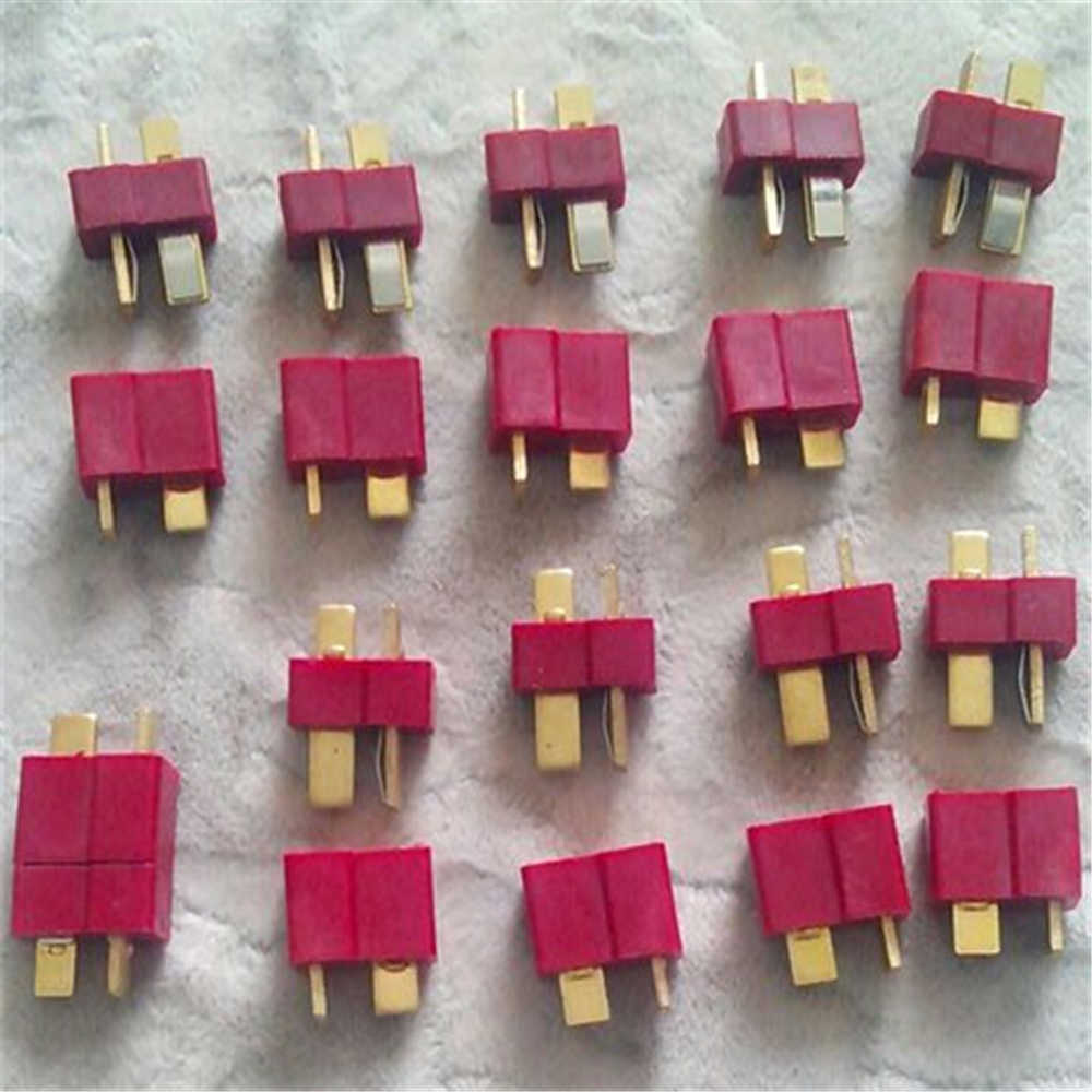 10 Pairs Top Quality RC Lipo Battery Helicopter T Plug Male and Female Connectors T wires Cables Electric Bike Car Battery Deans
