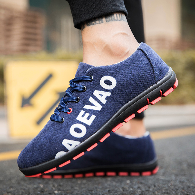 Fashion Shoes Mens Vulcanized Shoes Canvas Sneakers Men Autumn Hiking Shoes Black 2018 Loafers Letters Lace Up Zapatos De Hombre lace up letters pattern beam feet jogger pants
