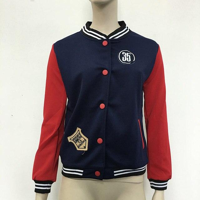 Новый Значок Патч Дизайн Женщины Плюс Размер Случайный Бейсбол Куртка Женщин Толстовки Куртка С Длинными Рукавами Пальто chaqueta mujer