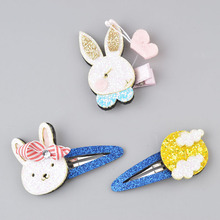 New cute Toddlers child Cloud Snap hair Clips rabbit rainbow barrettes cartoon kids girls accessories A300