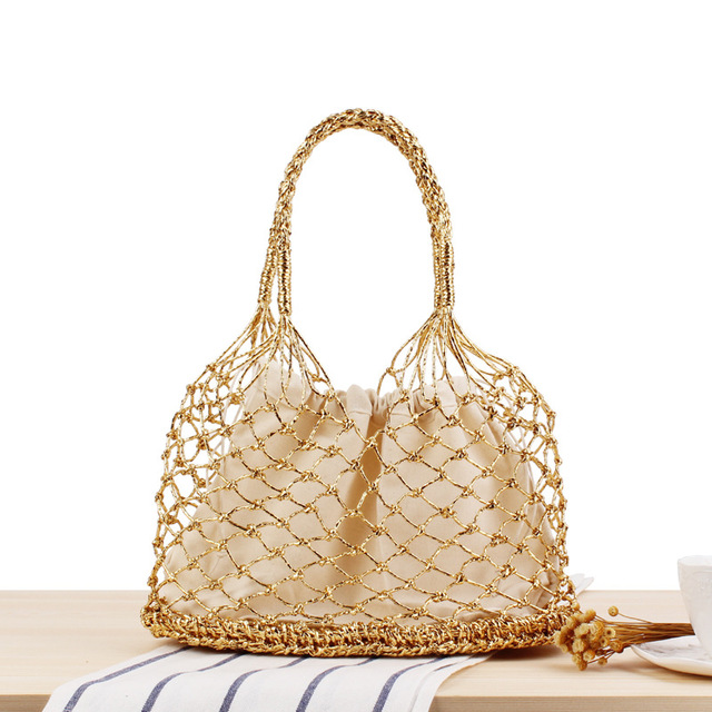 0971bce28b 2018 Beach Bag for Summer Straw Bag Handmade Woven Tote Women Travel  Handbags Luxury Designer Shopping