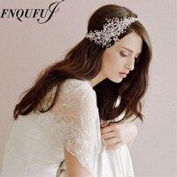 Perline con strass hairbands wedding rhinestone bridal diademi accessorio dei capelli copricapo da sposa copricapo ornamenti per capelli fascia