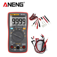 ANENG AN8008 Auto Range Digital Multimeter 9999 counts With Backlight AC/DC Ammeter Voltmeter Ohm Transistor Tester multi meter large lcd trms clamp multimeter 6000 counts temperature auto range ac dc ammeter with backlight free shipping ng4s