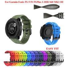 26 22 20 мм Силиконовые Quick Release ремешок на запястье для наручных gps-часов Garmin Fenix 5X 5 Plus 5S 3 3HR S60 D2 наручных часах наручный ремешок для часов