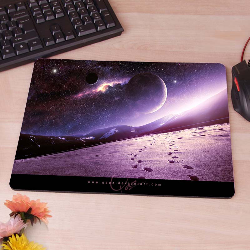 MaiYaCa Space Landscape Violet New Anti-Slip Mouse Pad PC Game Gaming Mouse Mats