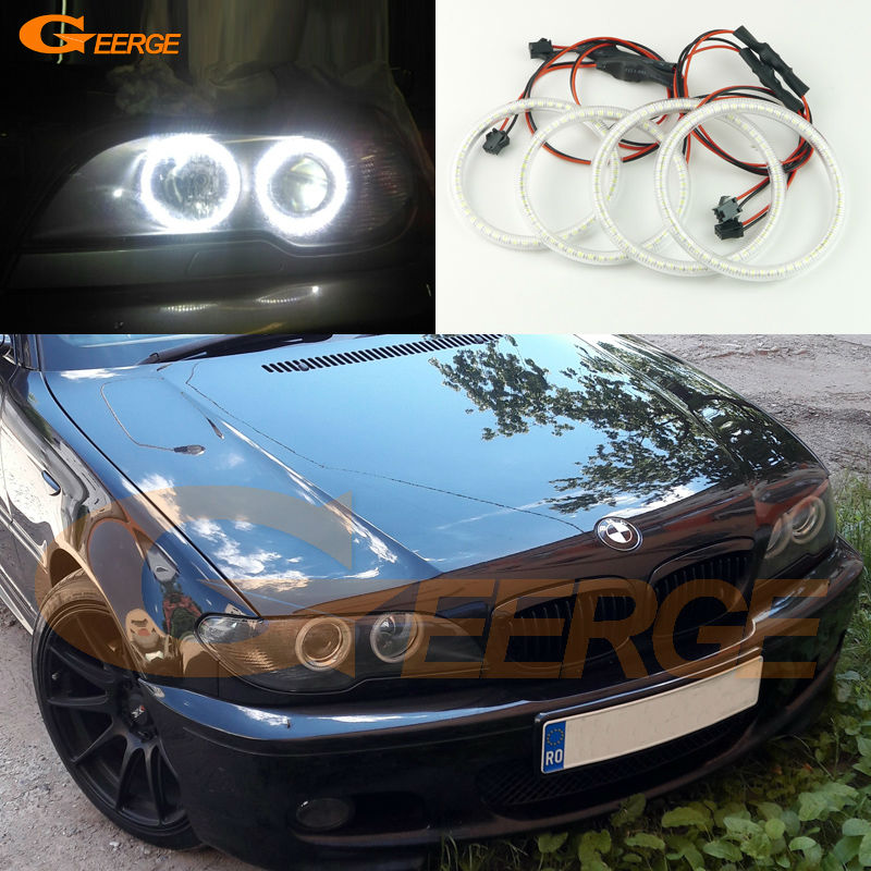 For BMW 3 Series E46 325ci 330ci Coupe Cabrio 2004 2005 2006 LCI Excellent Super bright 3528 SMD led Angel Eyes kit epman universal black 3 76mm polished aluminum fmic intercooler piping kit diy pipe length 600mm for bmw e46 ep lgtj76 600
