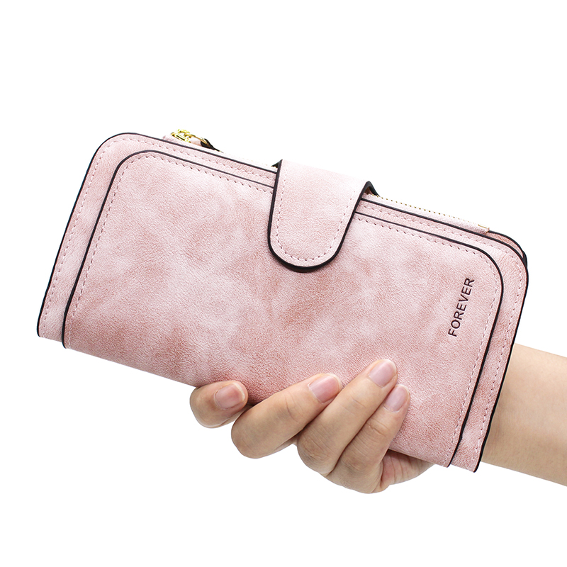 Brand Leather Women Wallets High Quality Designer Zipper Long Wallet Women Card Holder Ladies Purse Money Bag Carteira Feminina 3