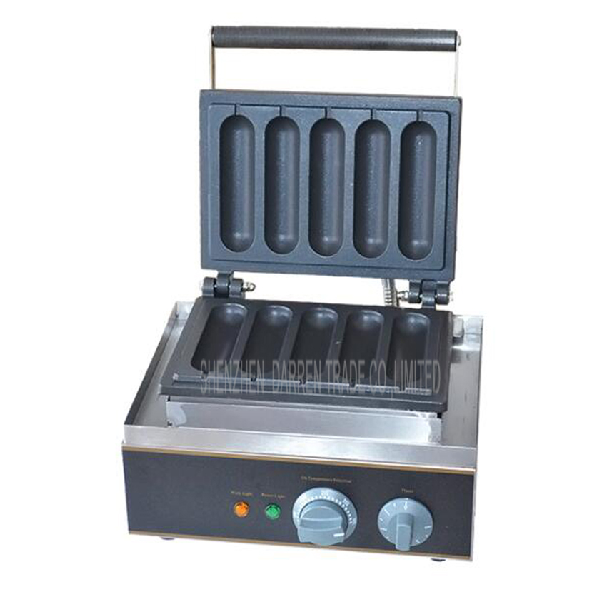 1PC Hot sale 220v/ 110V hot dog machine,/ French sausage maker/ Lolly Waffle maker 1pc electrical lolly waffle hot dog machine with 5 pcs molds 110v 220v stick waffle maker great snack machine