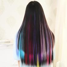 12 kolorów włosy proste włosy do włosów peruki koronki przodu peruka opaska do włosów akcesoria do włosów dla dziewczynek Multicolor akcesoria do włosów tanie tanio 12pcs wig hair Stylizacja akcesoria Hair piece