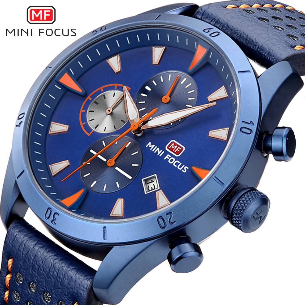 MINIFOCUS Luxury Famous Business Quartz Watch Men Wrist Watches 2018 Top Fashion Brand Male Clock Homme Montre Relogio Masculino megir mens watches top brand luxury fashion business clock man famous watches stainless steel male quartz watch montre homme new