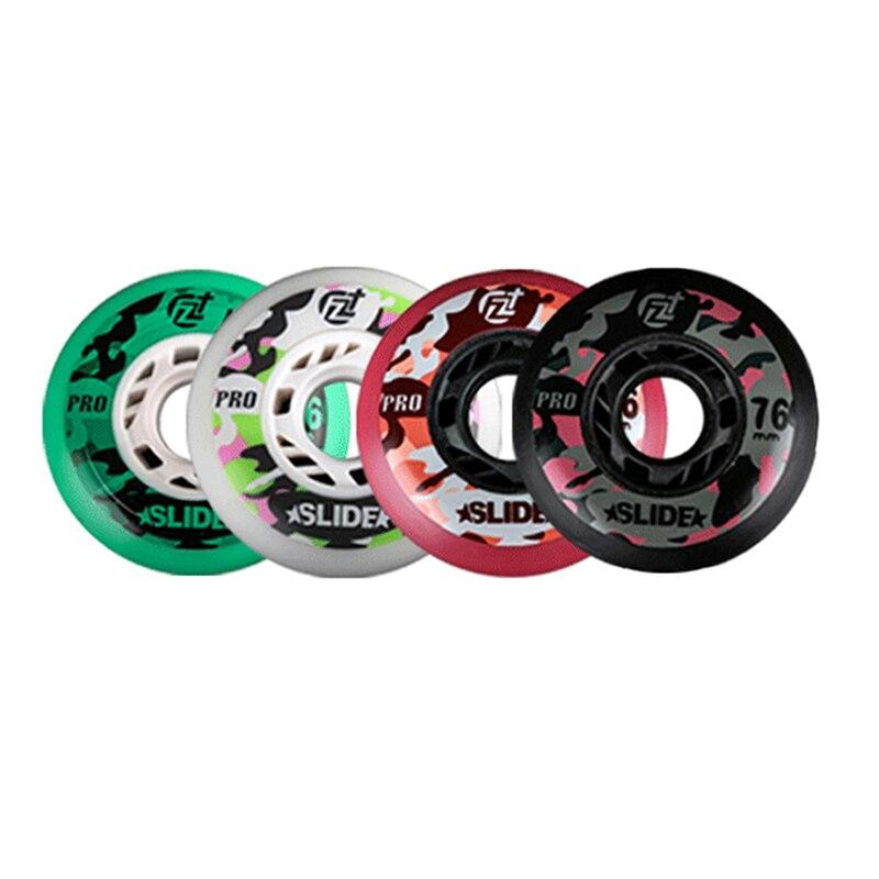 8pcs 90A Inline Skate Wheels With ILQ-11 Bearing 80/76mm Braking Slalom Free Skating Sliding Roller For SEBA Patines Tires JAPY