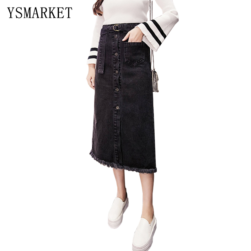 Popular Black Jean Skirt-Buy Cheap Black Jean Skirt lots from ...