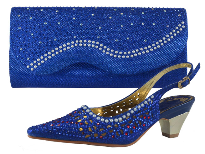 royal blue dress shoes with matching bag
