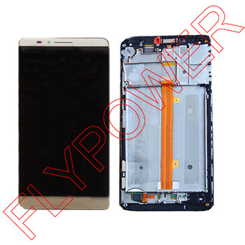New LCD screen display+Touch digiziter with FRAME for Huawei Ascend Mate 7 Gold By free shipping 6 0 lcd display digitizer touch screen with frame for huawei ascend mate 7 mt7 white black gold free shipping