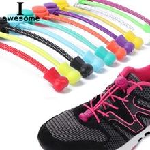 лучшая цена 1 Pair No Tie Locking Shoelaces Elastic Unsiex Women Men children Trainer Running Athletic Sneaker Shoe Laces Fit Strap Shoelace