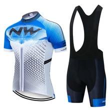 Мужская Трикотажная велосипедная дышащая одежда NW с коротким рукавом гелевая Подушка для велосипеда Ropa одежда для велоспорта Велосипедная езда Джерси