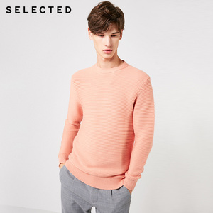 Image 3 - SELECTED Mens 100% Cotton Round Neckline Pullovers Winter New Regular Fit Knitted Sweater S