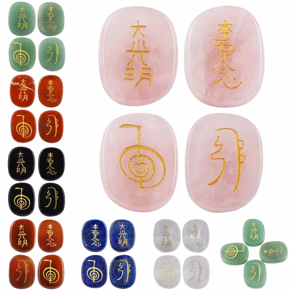 Sunyik crystal engraved chakra gemstone palm stone healing reiki sunyik crystal engraved chakra gemstone palm stone healing reiki balancing symbolsset of 4 in jewelry packaging display from jewelry accessories on biocorpaavc