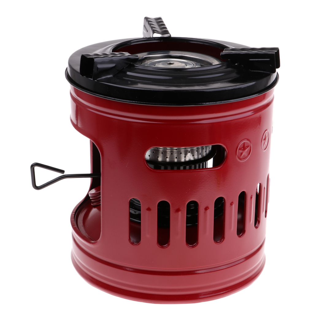 High Quality Camping Stove Windproof Outdoor Hiking Cookware 10 Wicks Kerosene Stove Heaters, Red