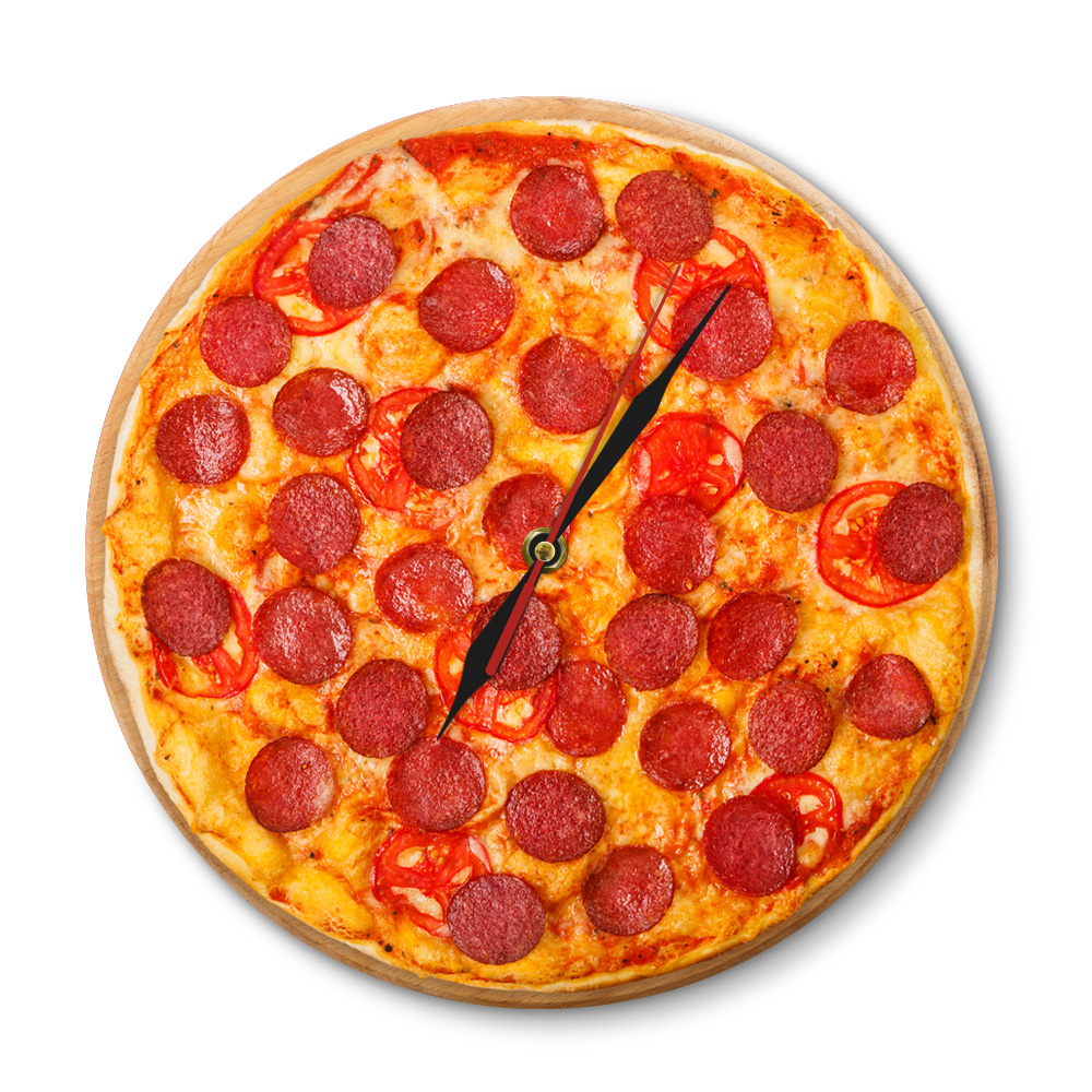 Italian Diner Us 16 Italian Pepperoni Pizza Wall Clock Italian Restaurant Pizza Design Clock Pizzeria Pasta Diner Chef Vintage Gift Sign Clock Watch In Wall