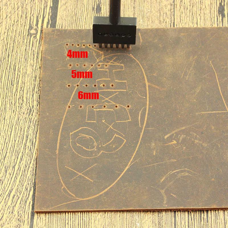 4 5 6 8 Mm Kulit Lubang Pukulan DIY Tangan Berlubang Bulat Punch Jahitan Alat Lubang Memotong Kulit Meninju alat 2/4/6/Lubang