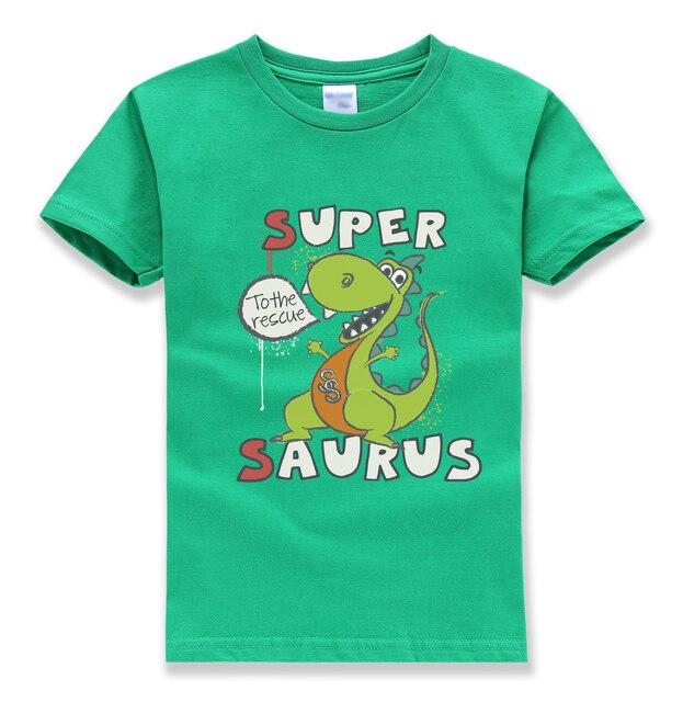 cartoon funny kawaii dinosaur tops tee summer kids short sleeve harajuku t shirts pullovers o neck t shirt boys girls t-shirts