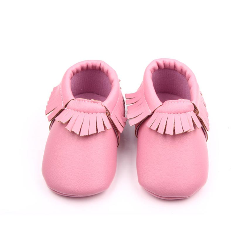 spring autumn soft pu material baby girl shoes for 0-12 month baby fringe leather newborn baby moccasins F1