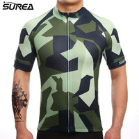 SUREA 2018 Summer Men's Cycling Jersey Mtb Bicycle Clothing Bike Wear Clothes Short Maillot Roupa Ropa De Ciclismo Hombre Verano
