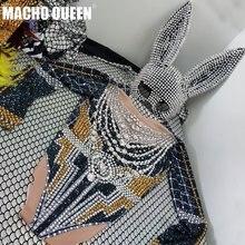 Drag queen Costomes Стразы знаменитости боди вечерние комбинезон для дня рождения певица сцены одежда для выступлений