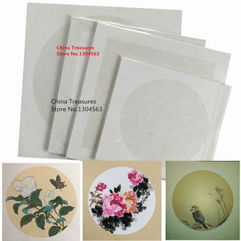 10 arkuszy partia 33cm * 33cm chiński karton ryżowy karton obraz z kaligrafią papier Xuan surowy Sheng Xuan tanie i dobre opinie Mian Gen 300g ㎡(thick)