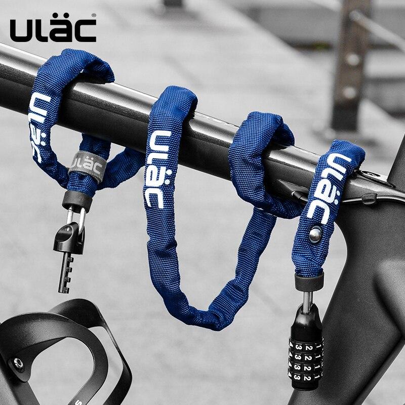 Ulac ciclismo bicicleta senha bloqueio mtb estrada bicicleta corrente anti-roubo bloqueio ultra-leve portátil bloqueio de segurança da bicicleta acessórios estáveis