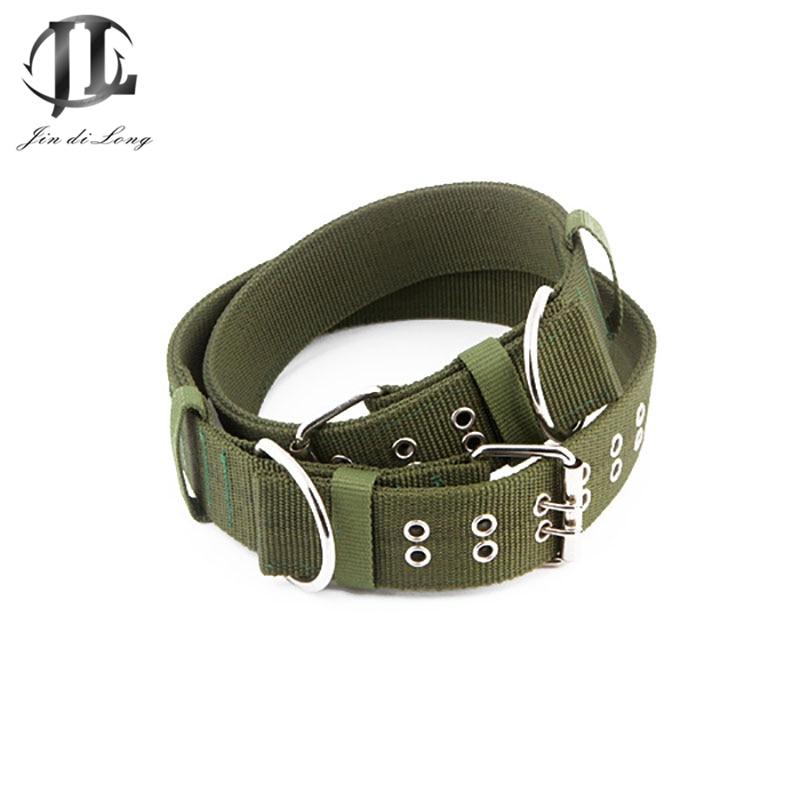 Adjustable Belt Buckle Dog Collar Thick Durable Nylon Pet Supplies Knit Collar Dog Colla ...