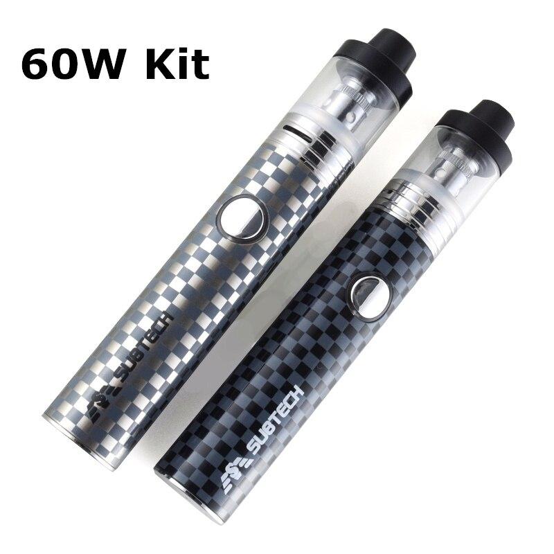S22 kit 60W énorme vaper stylo 1800mah batterie avec 2.5ml atomiseur 0.3/0.5 ohm réservoir électronique cigarette kit vape mod e-cigarettes
