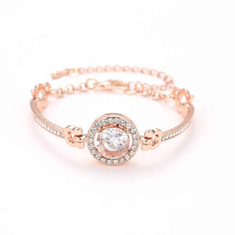 Boczny pasek pasek proste bransoletki kobiety urok BFF biżuteria ze stali nierdzewnej złoty kolor regulowany łańcuch bransoletka przyjaźni