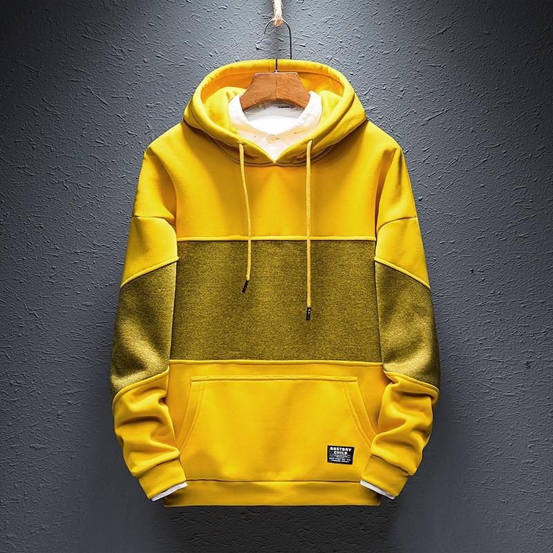 Hip Hop Hoodies Mens Hoody Clothes Warm Autumn Hoodie 2018 Fashion Streetwear Hoodies for Men Black Yellow Plus Size 4XL S235