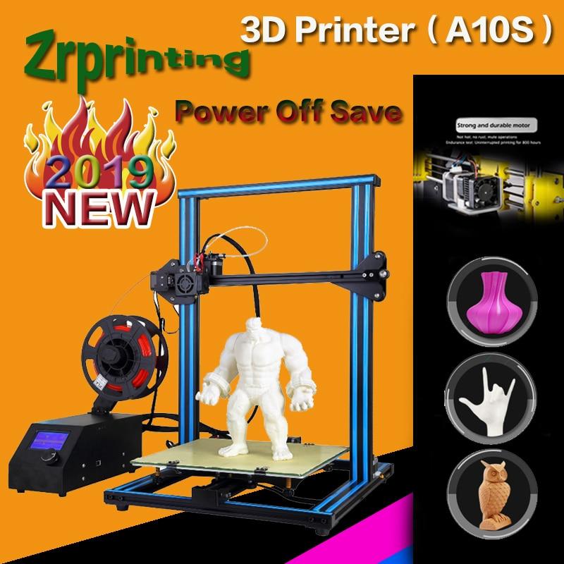 A10S 3D Printer - Upgrade Dual Z Rod axis - DIY Desktop - With PLA 3d printer stereo printer