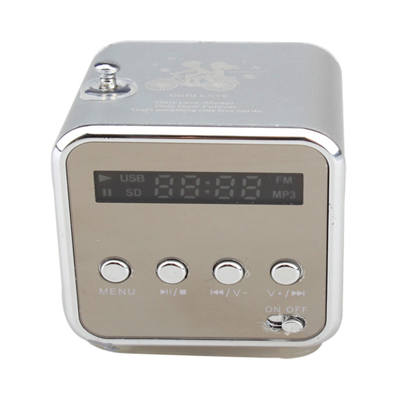 New Portable Mini Speaker Digital LCD Sound Micro SD TF USB FM Radio Music Stereo Speaker For Laptop PC MP3 MP4 kubei 288b mini portable bluetooth v3 0 stereo mp3 speaker w tf mini usb black