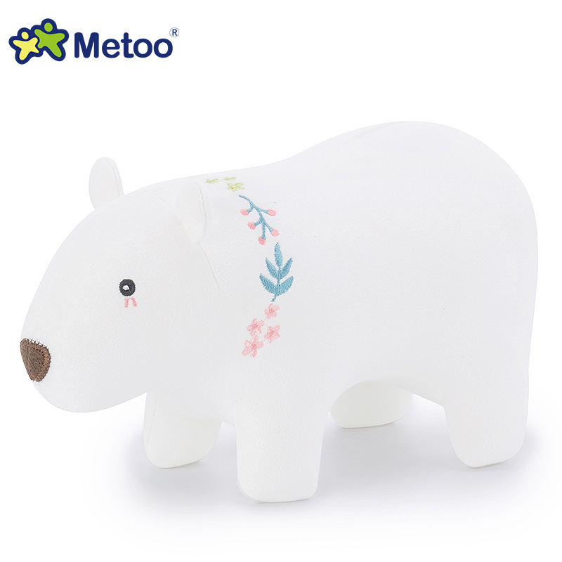 Sweet Cute Polar Bear Kawaii Plush Stuffed Animal Cartoon Kids Toys for Girls Children Baby Birthday Christmas Gift Metoo Doll cute bulbasaur plush toys baby kawaii genius soft stuffed animals doll for kids hot anime character toys children birthday gift
