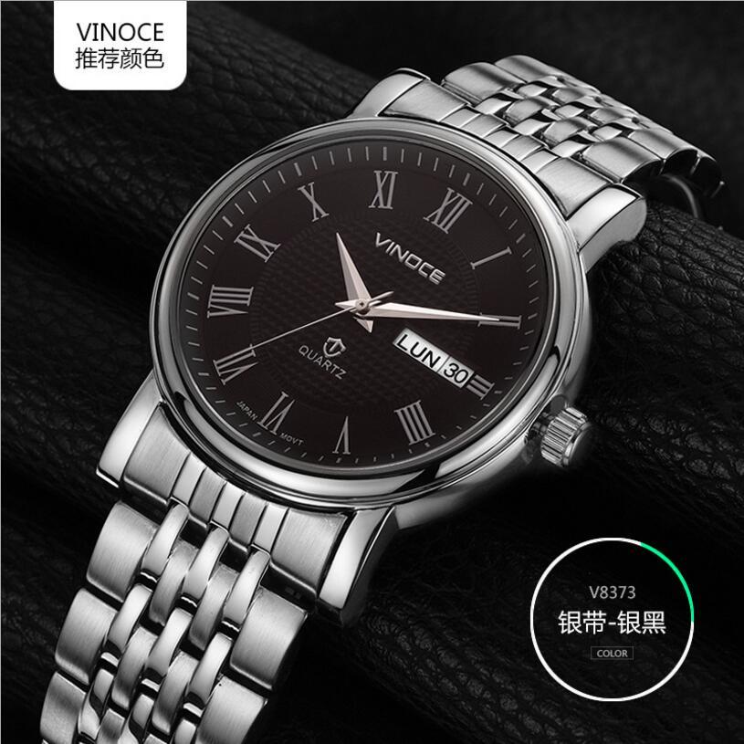 2017 New Arrival Brand Men Quartz Watch Clock men Stainless Steel 100 m Waterproof white Case Calendar Display Sapphire glass