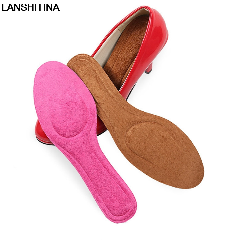 LANSHITINA Sweat Breathable Insoles Lady Shoes Pointed High Heel Pad Memory Foam Insoles Comfortable Shoe Inserts Accessoires expfoot orthotic arch support shoe pad orthopedic insoles pu insoles for shoes breathable foot pads massage sport insole 045