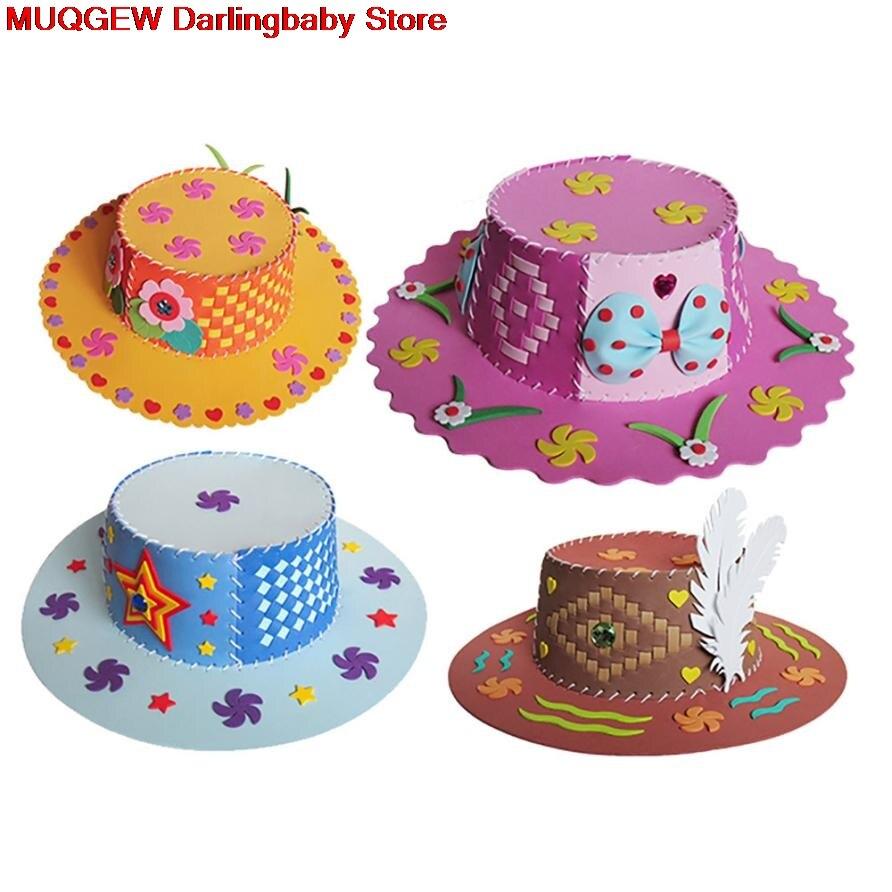 Colorful Eva Handmade Hat Kids Learning Diy Early Educational