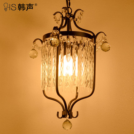 ФОТО European style living room  American Iron retro stair lamp simple aisle lights creative bedroom Pendant Lights