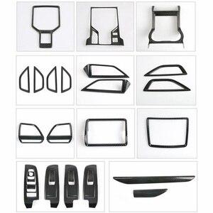 Image 5 - Moulures intérieures pour Subaru Forester 2019 fibre de carbone Center climatisation sortie évent décoration couverture garniture