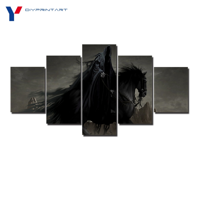 Horse Rider Ghost 5 Pieces Wall Painting Poster Living Room Decoration A0961